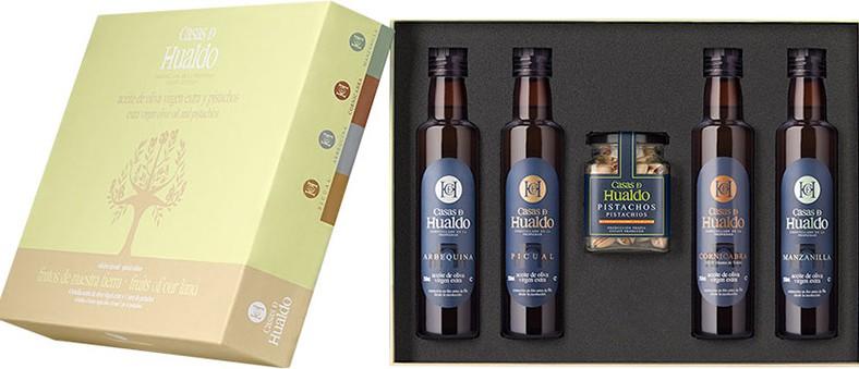 Olijfolie Casas de Hualdo geschenkverpakking